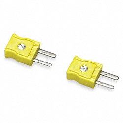 Type K Thermocouple Plug, Mini, PK 2