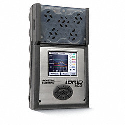 Multi-Gas Detector, 5 Gas, -4 to 131F, LCD
