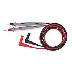 Test Leads, 48 In. L, 1000VAC, Black/Red, PR