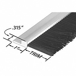 Stapled Set Strip Brush, PVC, Length 72 In