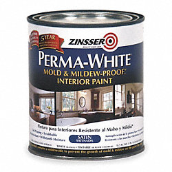 Latex Acryl InteriorWhiteSatin, 1 qt
