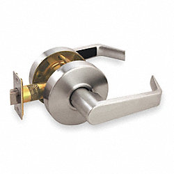 Lever Lockset, Passage, 2 3/4 In Backset