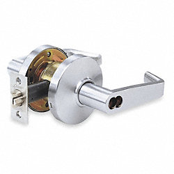 Lockset, Commercial Lever, Satin Chrome