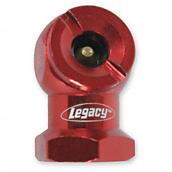 Tire Chuck, Ball Foot, 1/4 FNPT, Red
