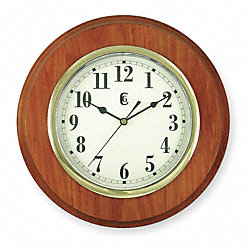 Quartz Clock, Round, Oak