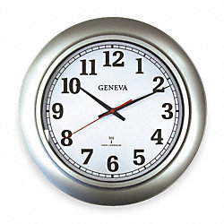 Quartz Clock, RC, Round, Silver