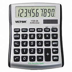 Portable Calculator, LCD, 10 Digits