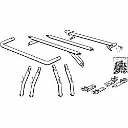 Leg and Cross Bar Kit, Steel Tubing