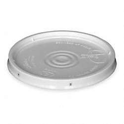 Plastic Pail Lid, White, For Use w/1TME2