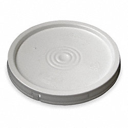 Plastic Pail Lid, White, For 1TMD9, 1TME1