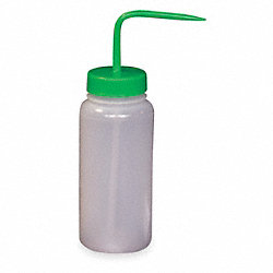 Wash Bottle, Green, Polypropylene