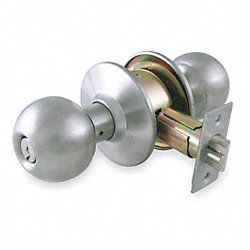 Knob Lockset, Medium Duty, SS, Entry