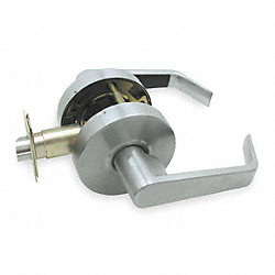 Lever Lockset, Medium Duty, Chrome, Passage
