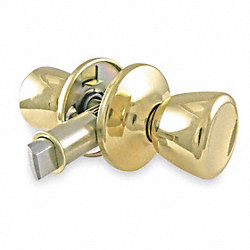 Lever Lockset, Light Duty, Brass, Passage
