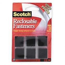 Reclosable Fastener Squares, PK 24