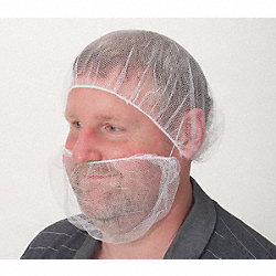 Beard Cover, White, Small, PK100