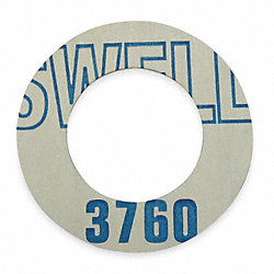 Gasket, Ring, 3/4 In, Synthetic Fiber, Blue