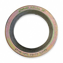 Gasket, Ring, 4 In, Metal, Yellow