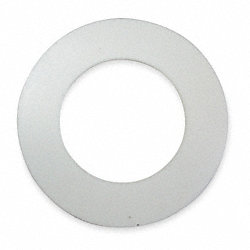 Gasket, Ring, 3 In, Virgin PTFE, White