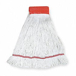 Wet Mop, Large, White, Looped End