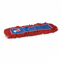 Dust Mop, Cotton, Sz 24 In, Red/Blue