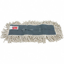 Disposable Dust Mop, 60 In, White, Cotton