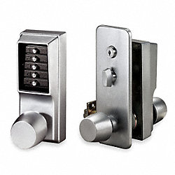 Pushbutton Access Control, Knob, Chrome