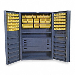 Bin & Drawer Cabinet, Assembled, 72 Bins