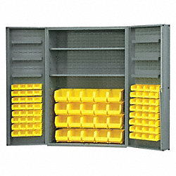 Bin & Drawer Cabinet, Assembled, 84 Bins