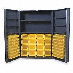 Bin & Drawer Cabinet, Assembled, 64 Bins