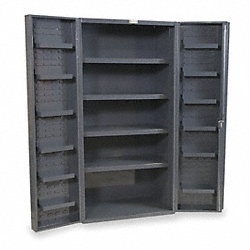 Storage Cabinet, Assembled, 4 Shelves