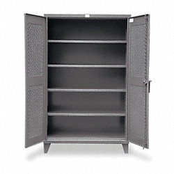 Storage Cabinet, Welded, Dark Gray