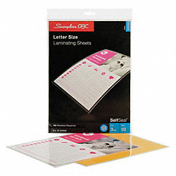 Laminating Sheets, 13-15/16x9-3/8in, PK10