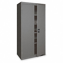 Storage Cabinet, H 78, W36, D24, Charcoal