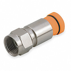 Coaxial Connector, RG59, F Type, PK 50