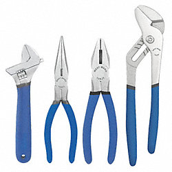 Plier Set, Dipped Grip, American Nose, 4 PC
