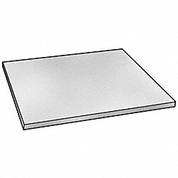 Sheet, PET-P, White, 1/2 In T, 12 x 48 In