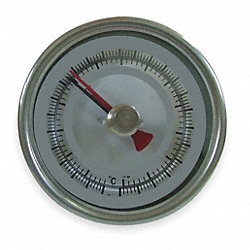 Bimetal Thermom, 3 In Dial, 0 to 140F