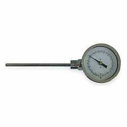 Bimetal Thermom, 3 In Dial, 0 to 240F