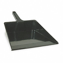 Hand Held Dust Pan, Plastic, 16 In W, Black