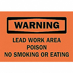 Safety Sign Label, 3-1/2 In. H, 5 In. W
