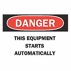 Safety Label, 3-1/2 In. H, 5 In. W