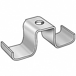 Grating Clip, Saddle, 1-2 H, PK 100