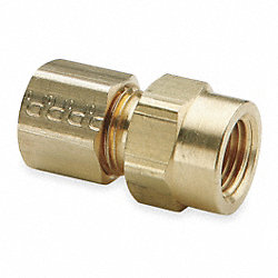 Female Connector, Compression, 3/8 In, PK10