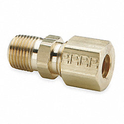 Male Connector, Compression, 1/2 In, PK 10