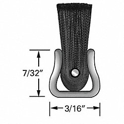 Strip Brush, 3/16W, 48 In L, Trim 2 In, PK10