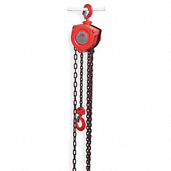 Hoist, Chain, 1/2T, 20Ft Lift