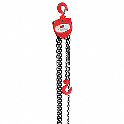 Hoist, Chain, 1T, 15Ft Lift
