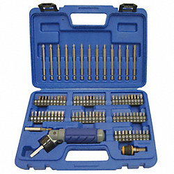 Screwdriver Bit Set, 1/4 Hex Dr, 86 Pc