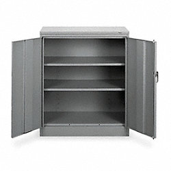 Counter Height Cabinet, Unassembled, Gray